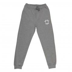 Спортивные штаны для мальчика серые с манжетами и карманами