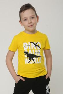Wanex Футболка детская жёлтая с динозаврами