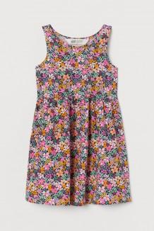 H&M Сарафан детский темно-синий с разноцветными цветочками