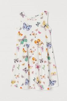 H&M Сарафан детский белый с бабочками (0870530042)