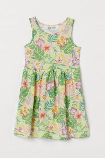 H&M Сарафан для девочки жёлтый с листьями и цветами