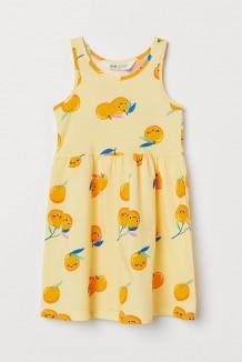 H&M Сарафан для девочки жёлтый с апельсинчиками