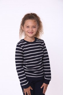 Wanex Свитшот для девочки в сине-серебряную полоску
