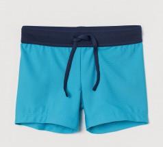 H&M Плавки для мальчика синие с неоновым поясом