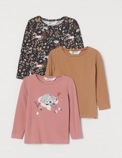 H&M Комплект футболок с длинным рукавом с животными