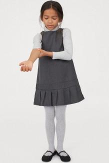 H&M Школьный сарафан для девочки серый