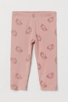 H&M Капри для девочки розовые с единорогами
