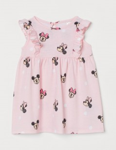 "H&M Летнее платье для девочки розовое ""Minnie Mouse"""