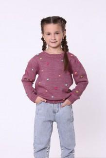 baby first Детский свитер для девочки вязаный бордовый