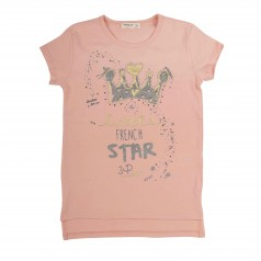 Breeze girls & boys Футболка для девочки с короной розовая