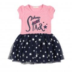 Breeze girls & boys Платье для девочки с синей фатиновой юбкой в звёздах