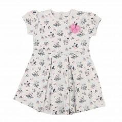 Платье для девочки серое с кустиками