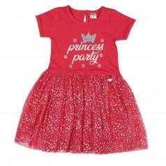 Wanex Платье для девочки с фатиновой юбкой малиновое