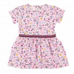 Платье для девочки розовое в цветочек