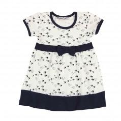 Wanex Платье для девочки белое и птичками