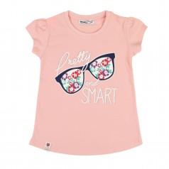 Футболка для девочки очками розовая