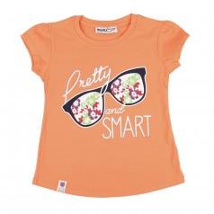 Wanex Футболка для девочки с очками оранжевая