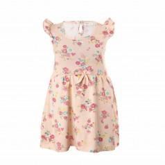 Breeze girls & boys Сарафан для девочки персиковый с цветами