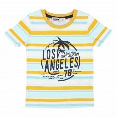 """Wanex Футболка для мальчика """"Los Angeles Beach"""" разноцветная в полоску"""