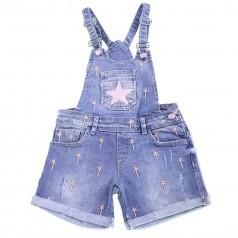 Комбинезон для девочки синий джинсовый