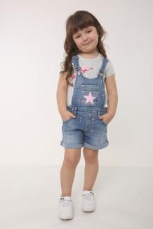 Wanex Комбинезон для девочки синий джинсовый