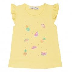 Wanex Футболка для девочки жёлтая с фруктами