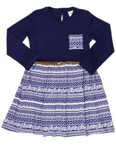 Wanex Платье с длинным рукавом для девочки с ремешком