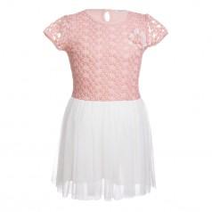 Breeze girls & boys Платье для девочки ажурное с цветочками