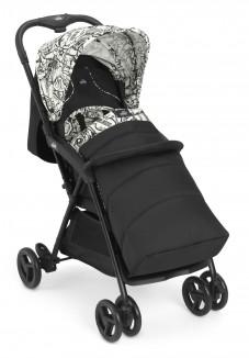 Прогулочная коляска CURVI, черно-белая с графити (831/136)