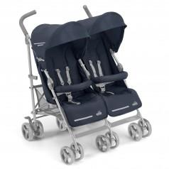 Cam Прогулочная коляска для двойни TWIN FLIP, синяя (850/27)