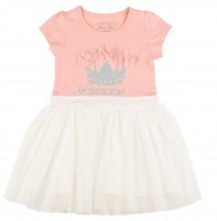 Breeze girls & boys Платье для девочки с короной и белой фатиновой юбкой