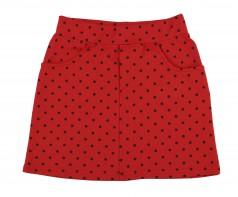 Wanex Юбка для девочки красная в чёрный горох