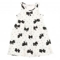 H&M Сарафан для девочки белый с чёрными бантиками
