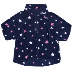 Детская кофта флисовая синяя со звёздами