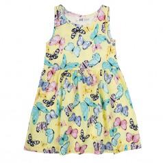 H&M Сарафан для девочки жёлтый с разноцветными бабочками