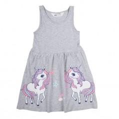 H&M Сарафан для девочки серый с единорогами