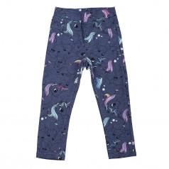 H&M Леггинсы для девочки синие с единорогами