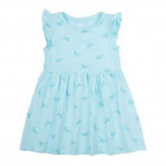 H&M Сарафан для девочки голубой с единорожками