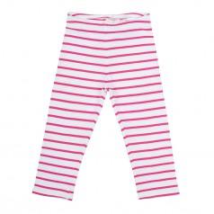 H&M Капри для девочки белые в розовую полоску