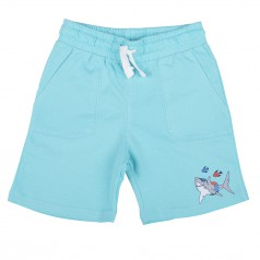H&M Шорты голубые с акулой и рыбками