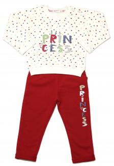 """Breeze girls & boys Комплект детский в сердечках бело-красного цвета """"Princess"""""""