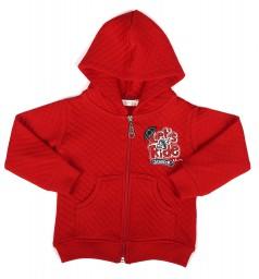 Breeze girls & boys Кофта детская красная с капюшоном на молнии