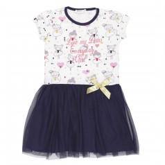 Breeze girls & boys Платье детское с балеринами и синей фатиновой юбкой