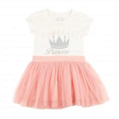 Breeze girls & boys Платье детское с короной и розовой фатиновой юбкой