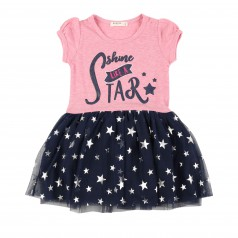 Breeze girls & boys Платье детское с синей фатиновой юбкой в звёздах
