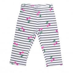 H&M Капри детские белые в полоску с вишенками