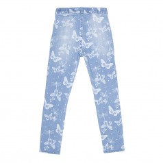 H&M Леггинсы для девочки голубые с бабочками