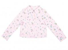 H&M Джинсовая куртка для девочки розовая в цветочек