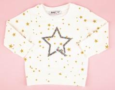 Wanex Свитшот белый с золотыми звездами