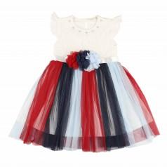 Breeze girls & boys Платье  для девочки с цветной фатиновой юбкой